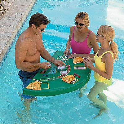 Table de blackjack pour piscine