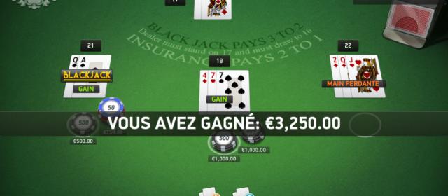 Nous avons testé le blackjack en ligne