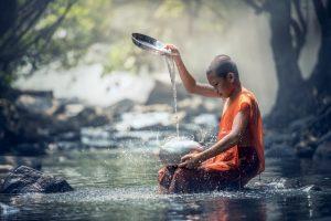 moine bouddhiste accro au blackback
